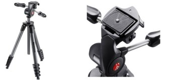 Manfrotto Treppiedi Compact Advanced nero con testa tre vie