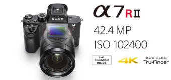 Nuova mirrorless Sony α7R II, il top di gamma